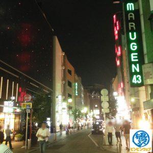 夜の中州大通り